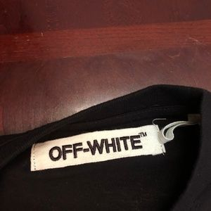 Off-White Shirts - Off White Cut Off T-Shirt